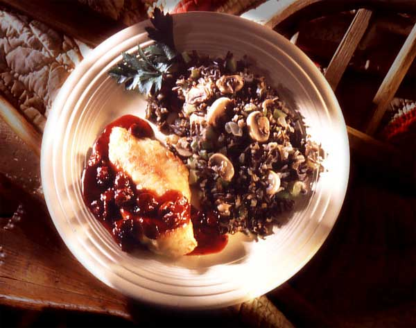 chicken with dried cherry sauce
